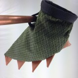 Soft fabric green dinosaur tail