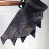 Soft fabric shiny brown dinosaur tail